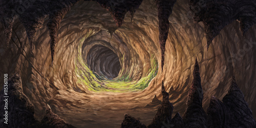inside the cave for illustration