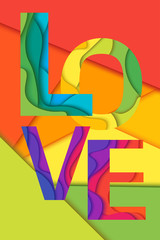 FototapetaVector Love word
