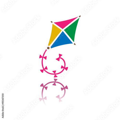Obraz na plátně Kite flying icon