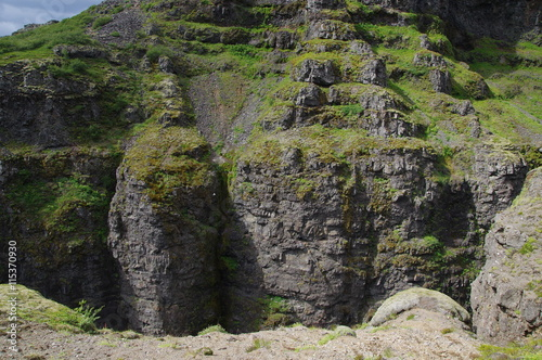 Poster Ruine Islands Berge