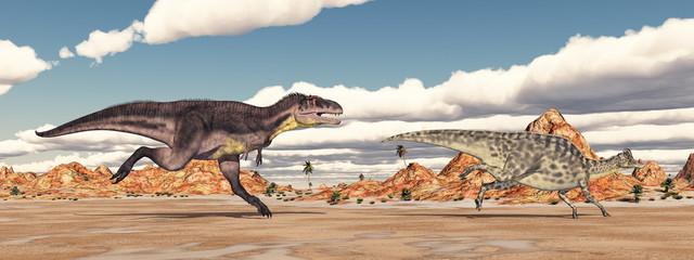 Fototapeta Tyrannotitan attacks Velafrons