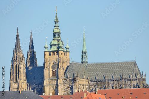 Fototapeta St. Vitus Cathedral in Prague Castle, Czech Republic obraz