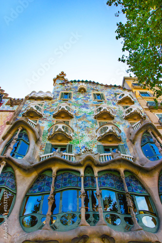 In de dag Barcelona Facade of Casa Batllo building in Barcelona in Spain