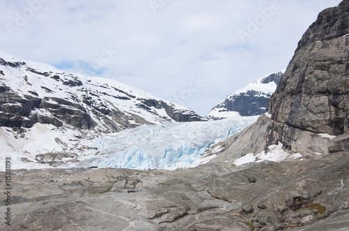 Papiers peints Glaciers Nigardsbreen glacier, Norway / Nigardsbreen is a glacier arm of the large Jostedalsbreen glacier.