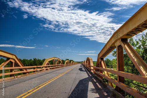 Aluminium Prints Route 66 Pony Bridge on route 66 in Oklahoma