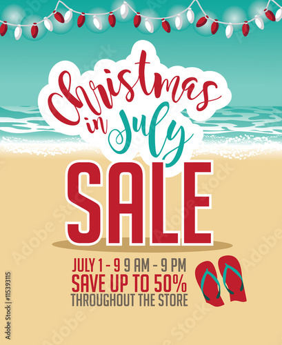 Christmas In July Sale Images.Christmas In July Sale Marketing Template Eps 10 Vector