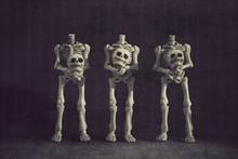 Headless Skeletons Holding Their Own Heads