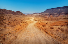 The Road In Desert. Southern Nevada, USA