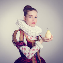 Portrait Of A Young Woman In H...
