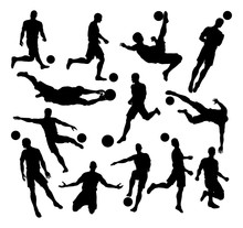 Soccer Football Player Silhoue...