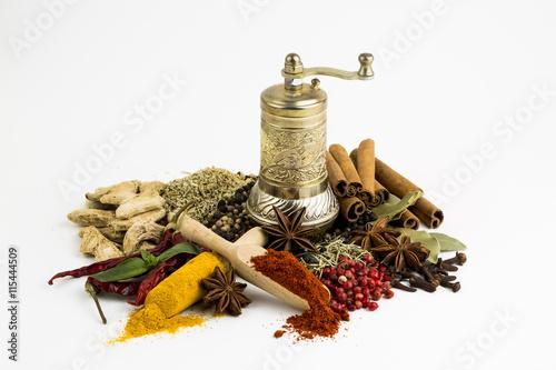 Canvas Prints Spices Baharat Çeşitleri