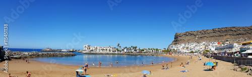 Public beach of Puerto de Mogan, Gran Canaria.