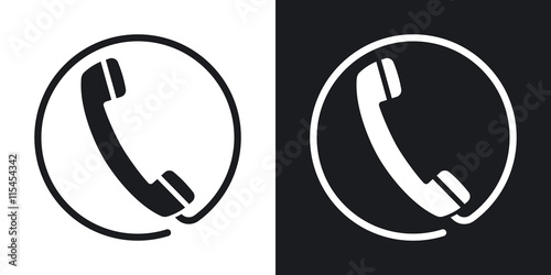 Fotografía  Vector telephone receiver icon
