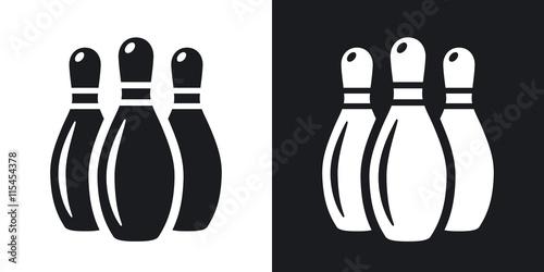 Valokuvatapetti Vector bowling pins icon