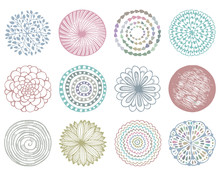 Vector Set Of Colorful Deco Ma...