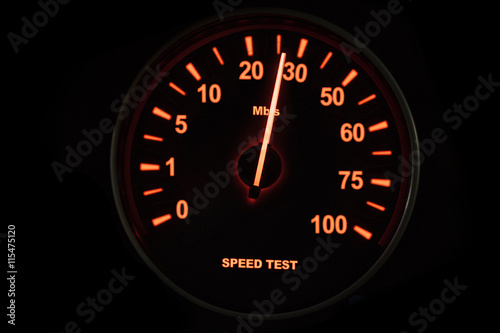 Speed test of internet connection - Buy this stock photo and