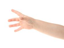Child's Hand Gesturing, Isolat...