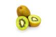 Close up kiwi fruits and slice kiwi fruits isolated on white background, Copy space