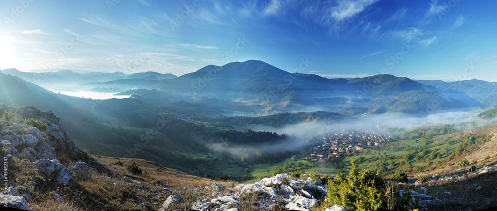 Fototapety, obrazy: Village of Yagodina. Rhodope mountains, Bulgaria