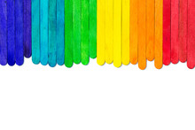 Colourful Popsicle  Sticks