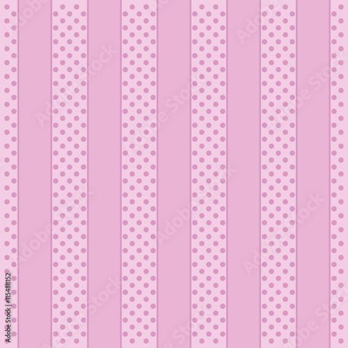 wzor-polka-dot-rozowe-tlo