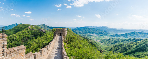 Papiers peints Muraille de Chine Panoramic view of Great Wall of China