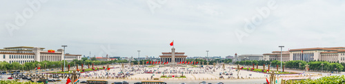 Fotobehang Peking Panoramic view of Tiananmen Square, one of the world's largest city square