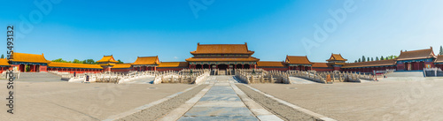 Poster Pekin panoramic view of the Forbidden City. it is a very famous landmark in Beijing.
