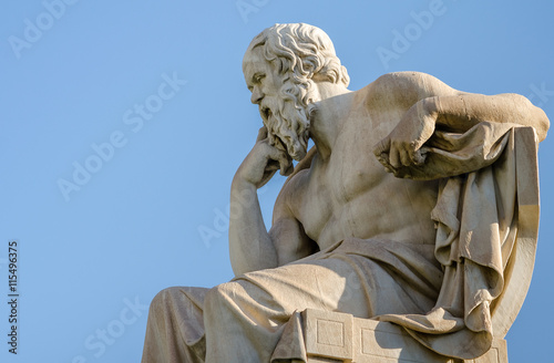 Obraz Close Up Statue of the Philosopher Socrates  - fototapety do salonu