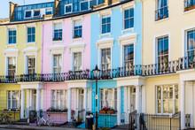 Colourful English Terraced Hou...