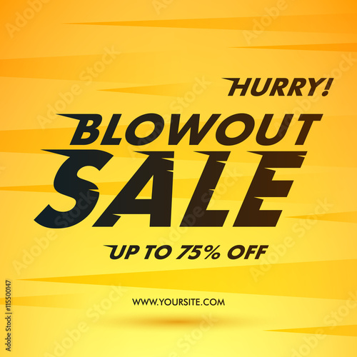 Blowout Sale offer poster banner vector illustration. Canvas Print