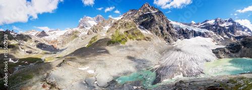 Poster Glaciers Alta Valmalenco (IT) - Vista aerea del ghiacciaio di Fellaria - luglio 2016