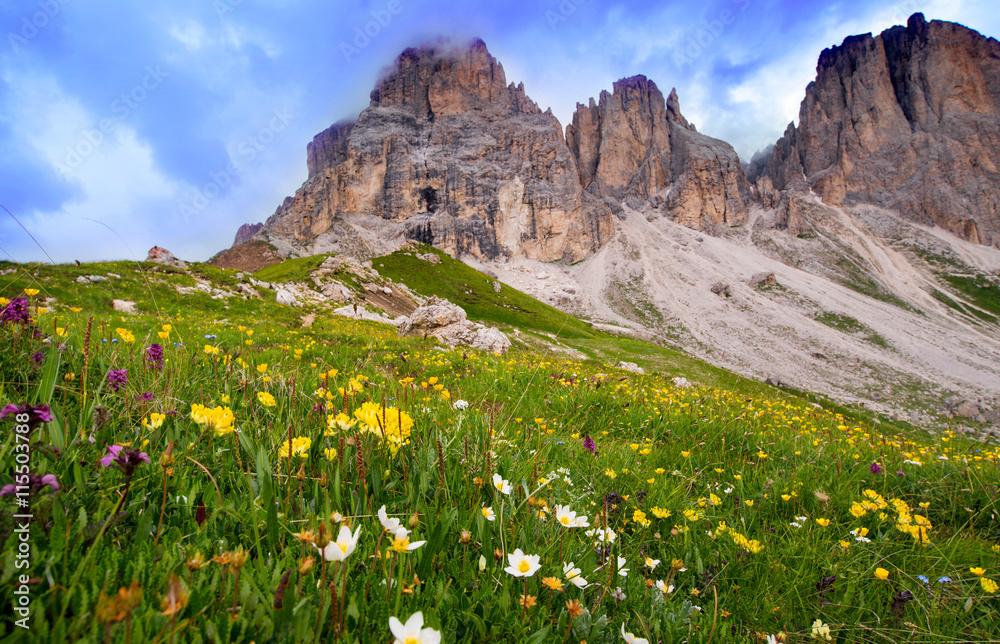 Fotografia Escursionismo Alpino Sulle Dolomiti Della Val Di Fassa