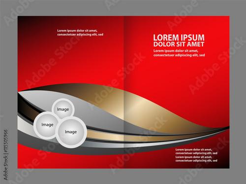 Valokuva  Vector red brochure template design