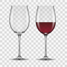 Big Reds Wine Glass Empty And ...