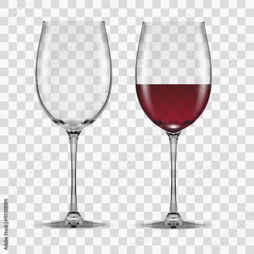 Obraz big reds wine glass empty and none - fototapety do salonu