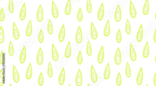 Fotografía  Seamless vector pattern with hand drawn green drops.
