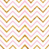 różowy i złoty wzór szewronu - 115516724