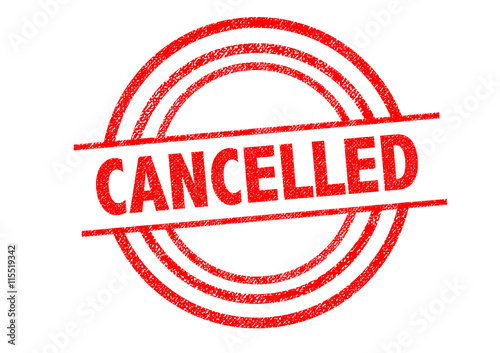 Fotografía  CANCELLED Rubber Stamp