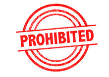 PROHIBITED Rubber Stamp
