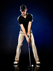 Fototapetaman golfer golfing isolated