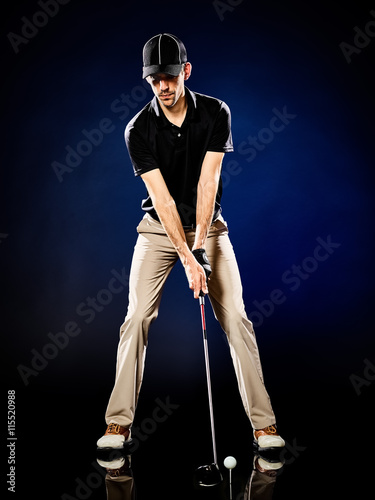 man  golfer golfing isolated - 115520988