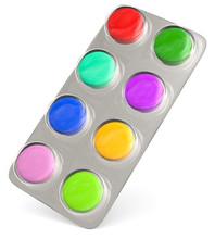 3d Tabletten Bunt, Jede Farbe ...