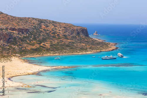 Poster Cote View of the beautiful beach in Balos Lagoon, Crete