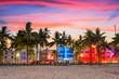 canvas print picture - Miami Beach, Florida