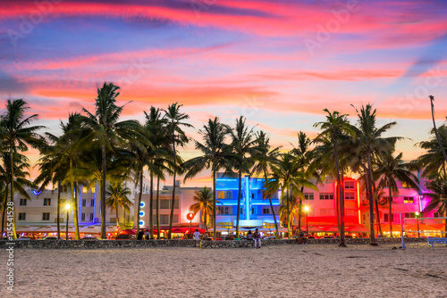 Miami Beach, Florida Tablou Canvas