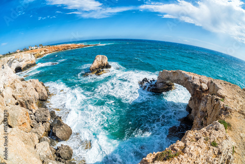 Foto op Canvas Cyprus Natural stone arch (so called Love Bridge) in Agia Napa, Cyprus