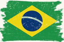 Brazilian Grunge Flag