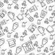 flat design coffee theme wallpaper icon vector illustration