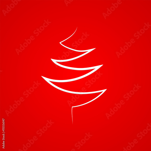 Foto op Canvas Baksteen Abstract simple stylized christmas tree